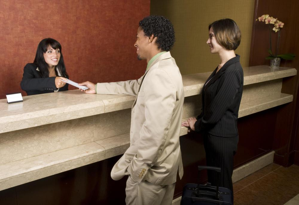 What is a Hotel Receptionist with pictures