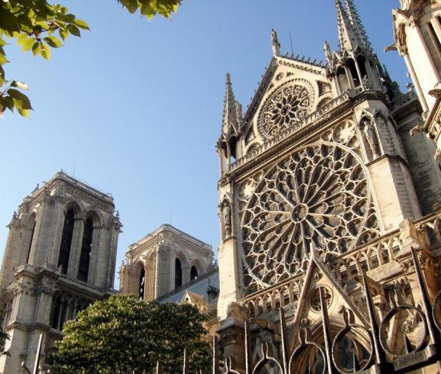 The Cathedral Of Notre Dame De Paris Is A Famous Example Of Gothic Architecture