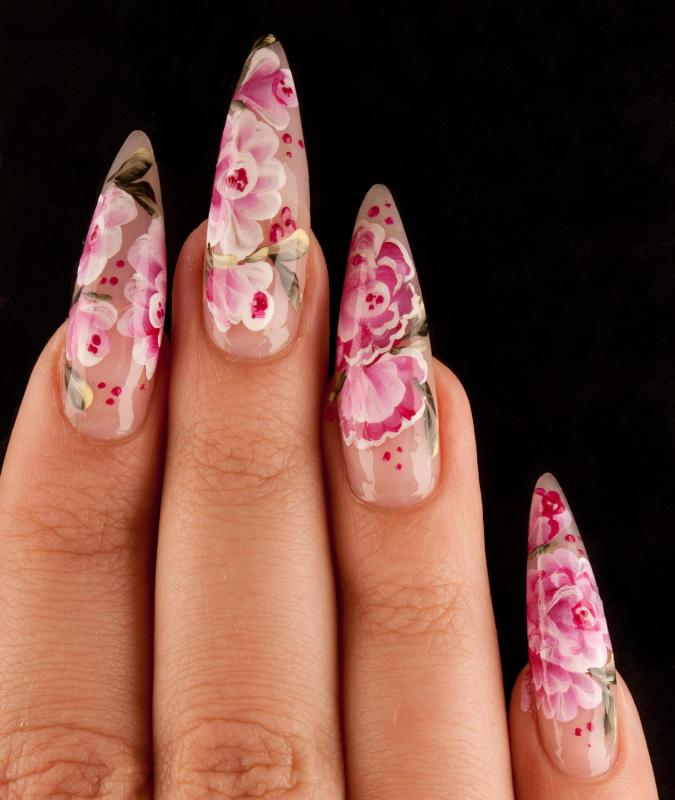 A Manicure Done With Artificial Nails