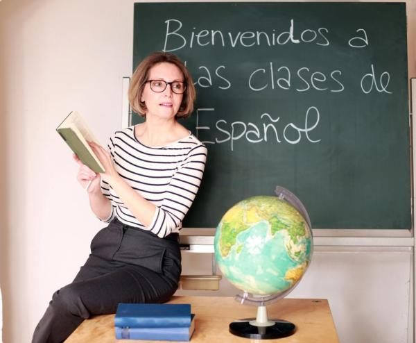 Teacher Teaching Spanish
