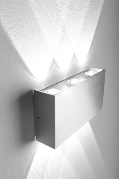 LEDWandleuchte IP44 6 x 1W LED 390 Lumen 6000 Kelvin