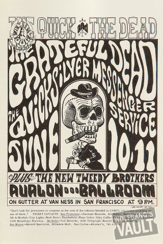 Grateful Dead Handbill from Avalon Ballroom on 10 Jun 66: 5 3/4