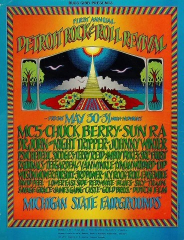 mc5 vintage concert poster from michigan state fairgrounds may 30 1969 at wolfgang s