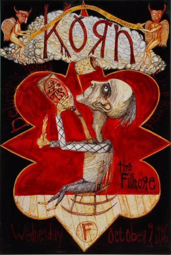Korn Vintage Concert Poster Fillmore Auditorium Oct