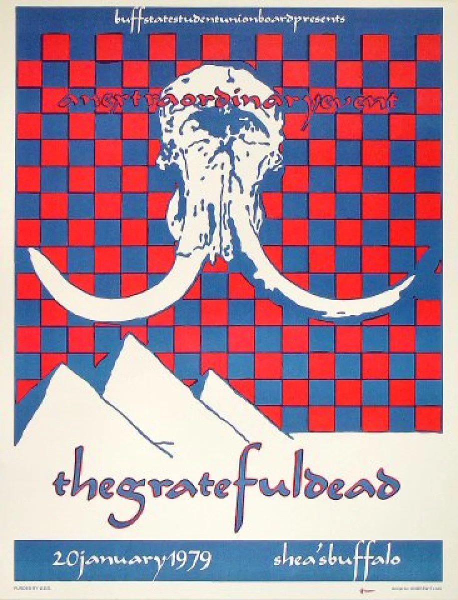 grateful dead vintage concert poster from shea s performing arts center jan 20 1979 at wolfgang s