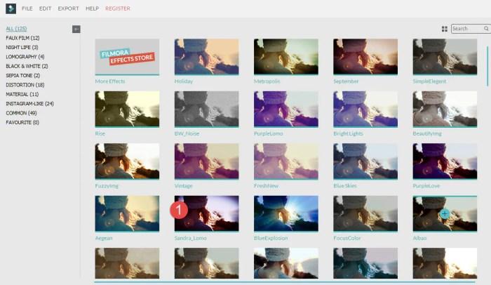 filmora filters