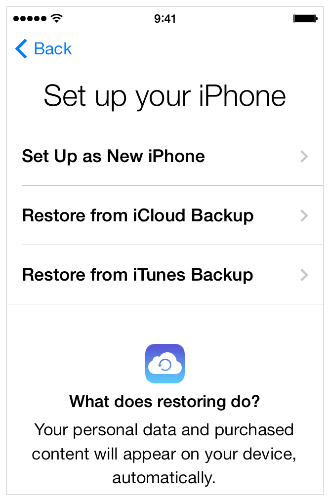 How to Set up a New iPhone iPad with iCloud
