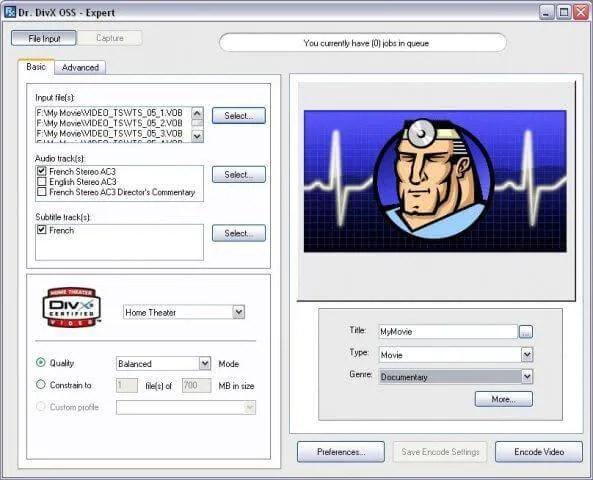 Bezplatne AVI MPEG Converter