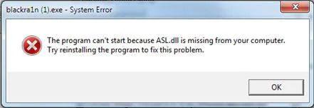 如何立即修復 Blackra1n Asl.dll 錯誤