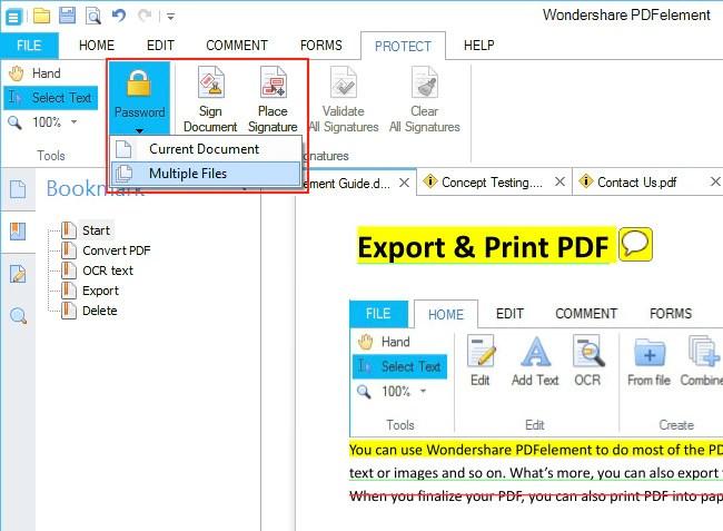 كيفية جعل Pdf للقراءة فقط