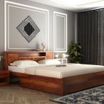 Buy Ferguson Bed With Storage King Size Honey Finish Online In India Wooden Street