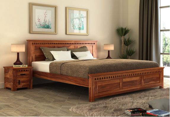 Double Bed Upto 55 OFF Buy Wooden Double Beds Online in 2021   Wooden Street