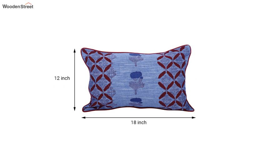 buy blue screen print cushion covers set of 2 12 x 18 inches online in india wooden street