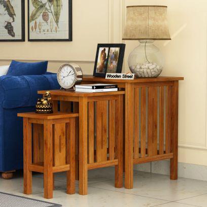 buy wood metal nesting tables online