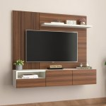 Buy Hailey Wall Mounted Tv Unit Exotic Teak Finish Online In India Wooden Street