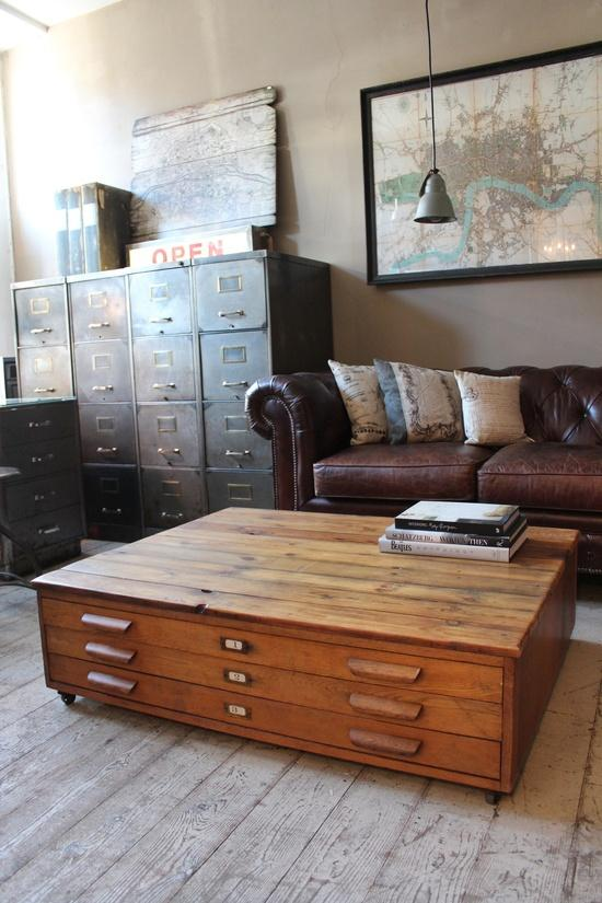 plan chest coffee table