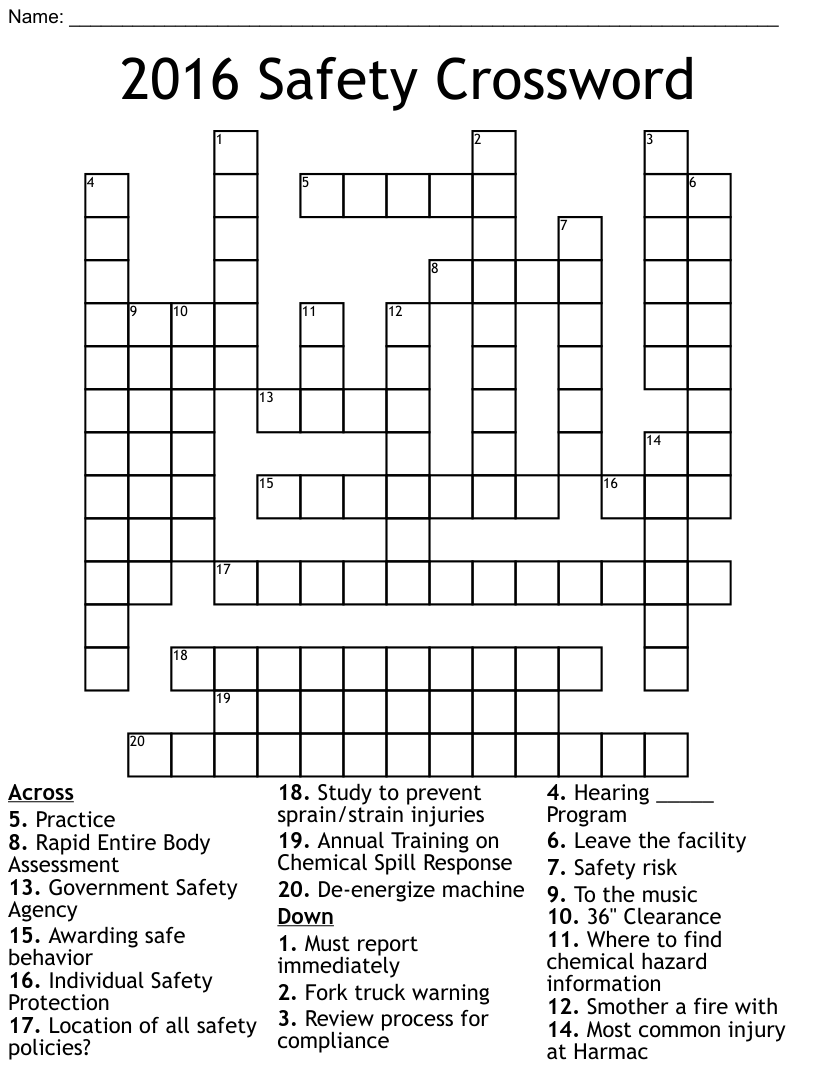 Similar to Workplace Safety and Emergencies Word Search