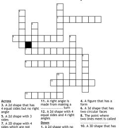 2d and 3D Shapes Crossword - WordMint [ 980 x 1121 Pixel ]