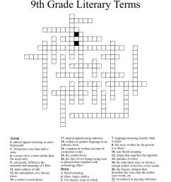 9th Grade Literary Terms Crossword - WordMint [ 1199 x 1121 Pixel ]