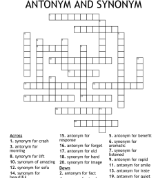 Synonyms and Antonyms Crossword - WordMint [ 1110 x 1121 Pixel ]