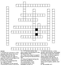 Revolutionary War Crossword Puzzle - WordMint [ 1136 x 1121 Pixel ]