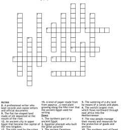 Ancient Egypt Crossword Puzzle - WordMint [ 1157 x 1121 Pixel ]