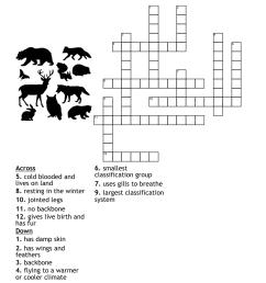 Animal Classification Crossword - WordMint [ 1007 x 1121 Pixel ]