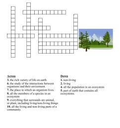 Ecology \u0026 Environment Crosswords [ 1003 x 1121 Pixel ]