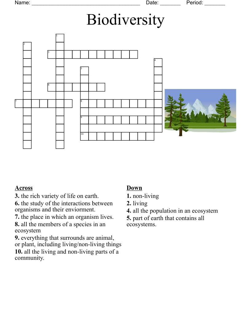 hight resolution of Ecology \u0026 Environment Crosswords
