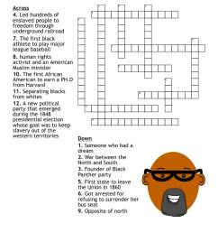 Black History Month Crossword - WordMint [ 1033 x 1121 Pixel ]