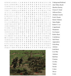 Civil War Word Search - WordMint [ 940 x 1121 Pixel ]