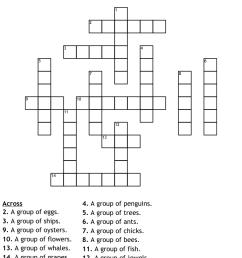 COLLECTIVE NOUNS Crossword - WordMint [ 951 x 1121 Pixel ]
