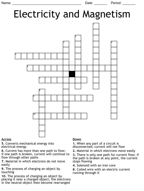 small resolution of Similar to Fourth Grade Science Crossword - WordMint