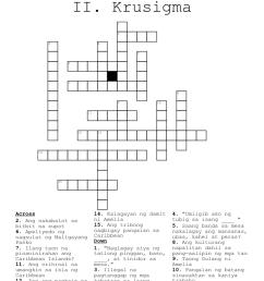 Tagalog Language Crosswords [ 1095 x 1121 Pixel ]
