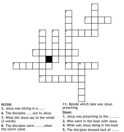 Mark 10:46-52 Crossword - WordMint [ 980 x 1121 Pixel ]