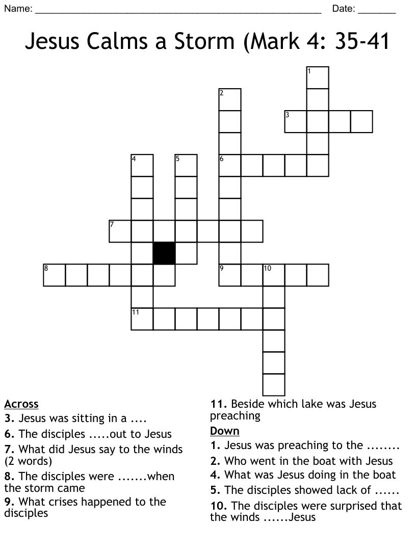 medium resolution of Mark 10:46-52 Crossword - WordMint