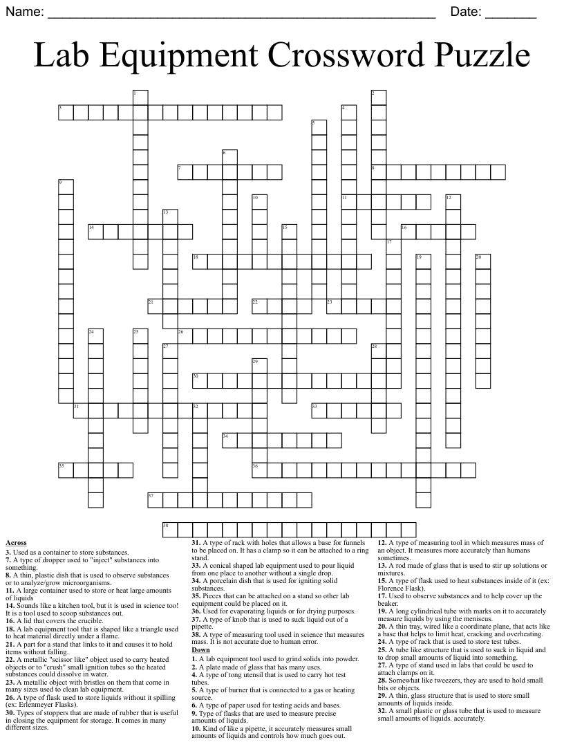 medium resolution of Science Crosswords