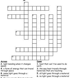 Similar to 5th grade--Chapter 3 LIGHT Crossword - WordMint [ 918 x 1121 Pixel ]