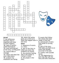 Literary Terms Crossword - WordMint [ 1085 x 1121 Pixel ]