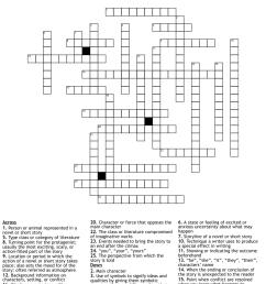 Literary Terms Crossword - WordMint [ 1241 x 1121 Pixel ]