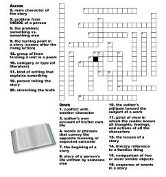 Books \u0026 Literature Crosswords [ 1161 x 1121 Pixel ]