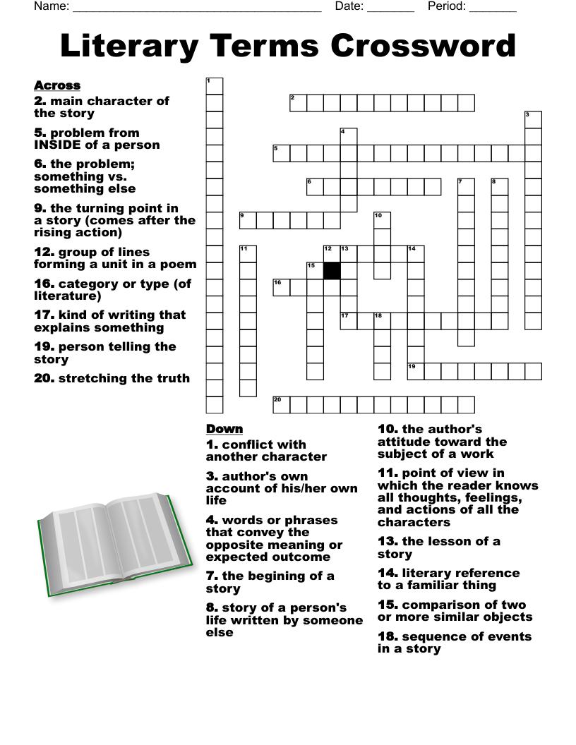 hight resolution of Books \u0026 Literature Crosswords