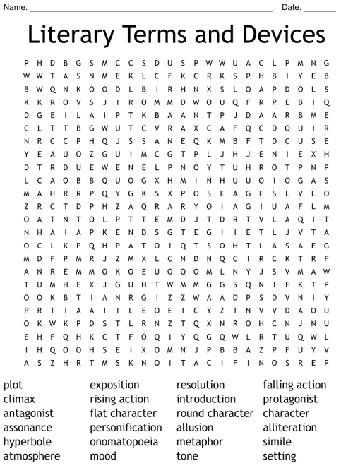 small resolution of 8th Grade English Word Search - WordMint