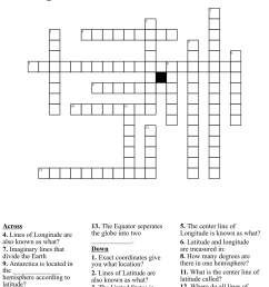 Latitude and Longitude Crossword - WordMint [ 1056 x 1121 Pixel ]