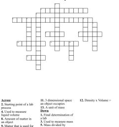 Mass Volume Density Crossword - WordMint [ 986 x 1121 Pixel ]