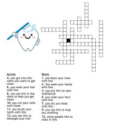 Personal Hygiene Crossword - WordMint [ 1010 x 1121 Pixel ]