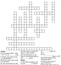 Place Value Crossword Puzzle - WordMint [ 1060 x 1121 Pixel ]