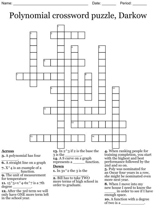 small resolution of Polynomial crossword puzzle