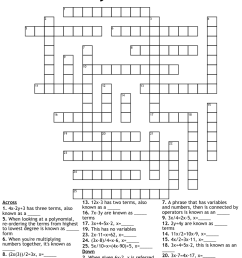 Polynomial crossword puzzle [ 1211 x 1121 Pixel ]