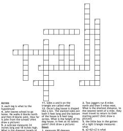Pythagorean Theorem Crossword - WordMint [ 1136 x 1121 Pixel ]